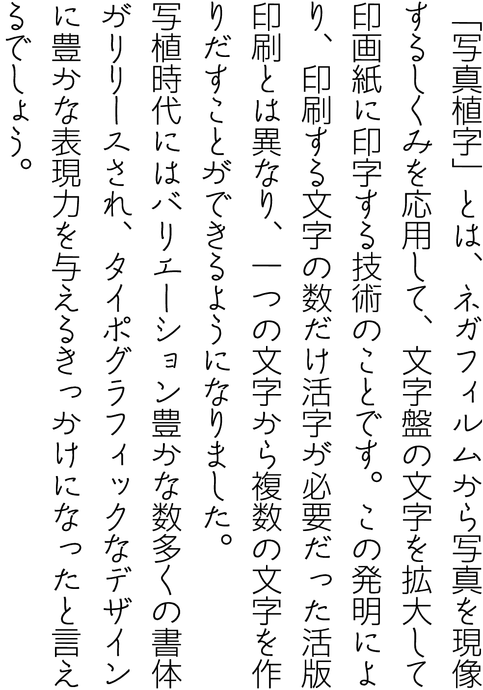 ゴナ L かなC LNAG-C 縦組見本