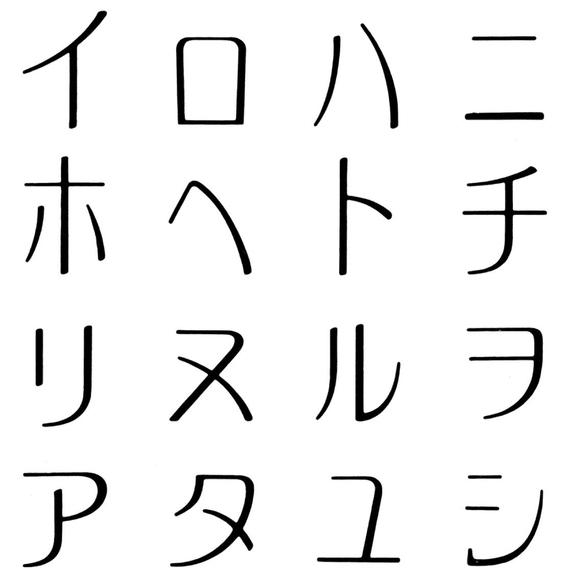 アキラ KB 字形見本