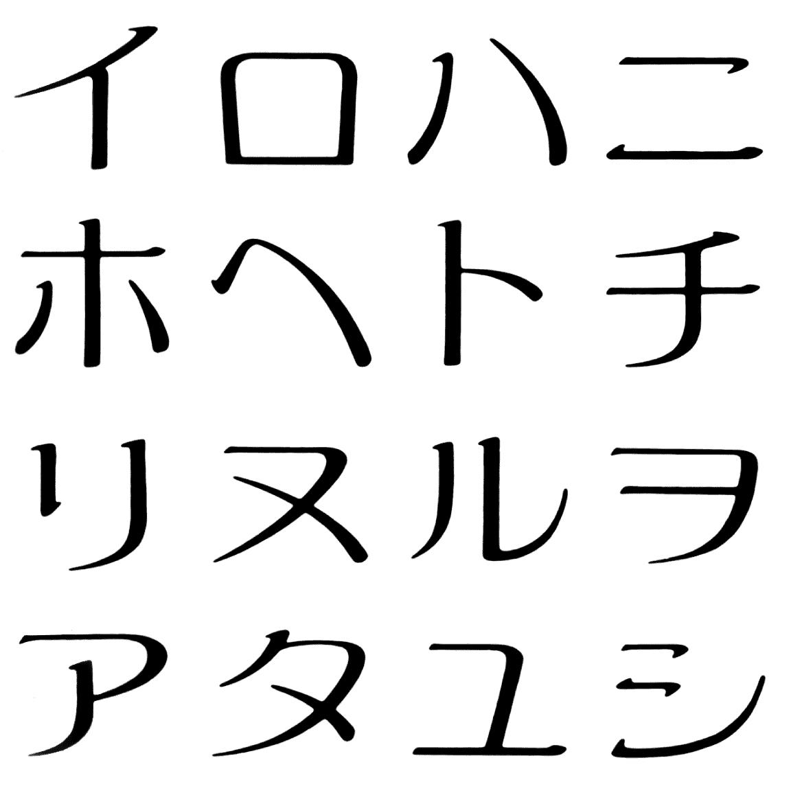 アキラ全角 KC 字形見本